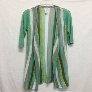 ANTHROPOLOGIE SOFT SURROUNDINGS L CARDIGAN SIZE S